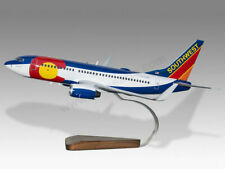 Boeing 737-700 Southwest Colorado One Handcrafted Solid Wood Display Model