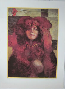 Carol by Jeff Jones Signed and Numbered Print # 161 / 450