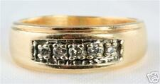 Diamond Band Ring Size 7 10K Gold 7Mm Wide 1/4 Carat
