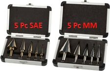 10Pcs Step Drill Bits SAE + MM