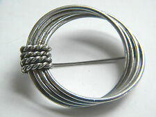 Vintage Abstract Multi Link Circle Brooch Silver tone Pin vintage Jewelry