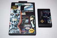 T2 The Arcade Game Sega Genesis Video Game Cart w/ Box Only