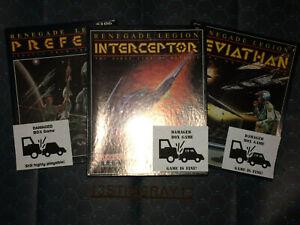 FASA DAMAGED BOX Trilogy in SW Renegade Legion Leviathan, Interceptor, Prefect