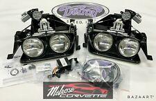 NEW 68-82 Corvette Headlight Assemblies W Detroit Speed Electric Conv Kit Bucket