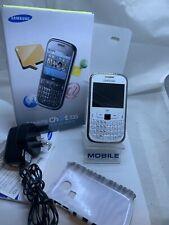 Samsung Chat 335-S3350 Blanc (Débloqué) Smartphone Boxed
