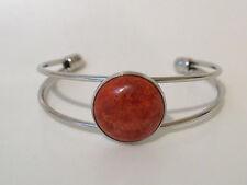 Koralle Schaumkoralle Armreif Armband Simply Round Rot