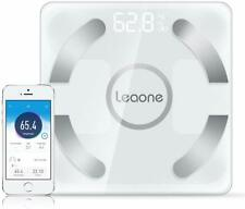 Leaone Bluetooth Body Fat Scale Usb Rechargeable Digital Weight Scale, White