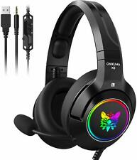 Onikuma K9 Gaming Headset with Microphone for PS4, XBox, Switch & PC Gaming