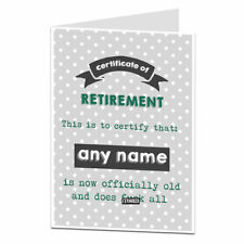 Personalised Funny Retirement Card Congratulations Retiring Men Women Rude