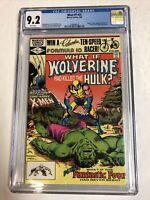 What If? (1982) # 31 (CGC 9.2 WP) Hulk 181 Wolverine