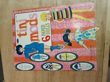 1968 Vintage Tini Mods Doll Book Whitman paper dolls