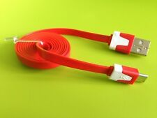 3Ft/6Ft/10Ft Micro USB 2.0 to USB Samsung Flat Noodle Data Sync & Charger Cable