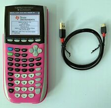 Ti-84 Plus C Silver Edition Graphing Calculator Pink Texas Instruments Tested!