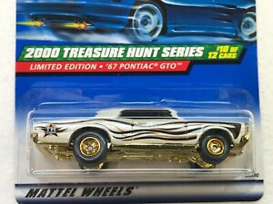 HOT WHEELS 2000 TREASURE HUNT SERIES 67 PONTIAC GTO #10/12 WITH RUBBER TIRES