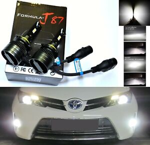 LED Kit G8 100W 9012 HIR2 5000K White Two Bulbs Head Light Low Beam Replacement