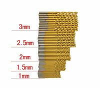 50x 1-3mm HSS High Speed Steel Titanium Coated Twist Drill Bit Kit Drilling Tool