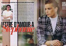 Coupure de presse Clipping 1997 Stéphanie de Monaco (6 pages) lettres d'amour