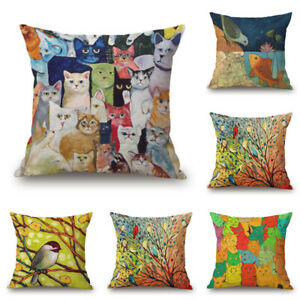 New Pillow Case Country Planning Cotton Linen Sofa Cushion Cover For Home Decor