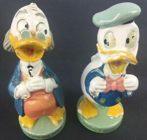 Vintage 1961 Walt Disney Donald Duck & Ludwig Von Drake Salt & Pepper Shaker Set