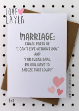 Greetings Card / Marriage / Cheeky / Comedy / Love Layla / Funny / Humour / K78