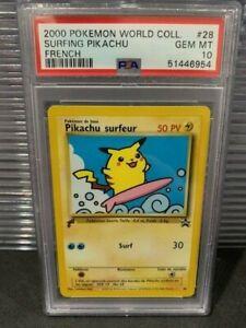 PSA 10 - SURFING PIKACHU FRENCH - Pokemon: 2000 Pikachu World #28 - 51446954