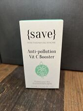 Save Skincare Anti-Pollution Vitamin C Booster 30ml New & Sealed Natural RRP £37