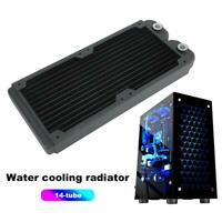 240mm CPU Water Cooling Heat Sink Copper Radiator G1/4 14 Pipes for Computer IDM