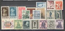 R8995 - POLONIA 1955 - LOTTO 19 TEMATICI DIFFERENTI - VEDI FOTO
