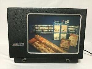 Bell & Howell Communicator 50 Briefcase Projector 1152-D Cassette +Xtra Bulb&Key