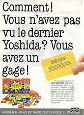 Publicité 1990  GAGES A GOGO jeu de société PARKER