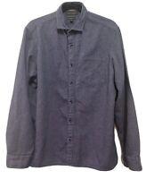 Banana Republic Size L Mens Untuck Camden Fit Long Sleeve Button Up Denim Shirt
