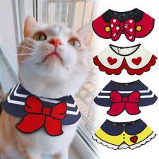 4PCS Cat Dog Bibs Pet Puppy Neckerchief Collar Adjustable Grooming Mixed Colors