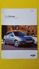 Ford Focus Flight & Edge car brochure sales catalogue September 2003 MINT