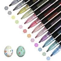 Pennarelli per pennarelli a doppia linea 12 colori pennarelli metallici Set di