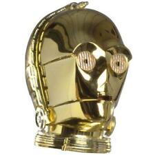 Star Wars C3PO plata de ley S925 Robot nuevo para pulsera europea.
