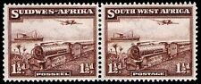 1937 SOUTHWEST AFRICA #110 - MAIL TRANSPORT PAIR - OGH - VF - CV $25.00 (E#9778)