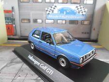 VW Volkswagen Golf MKII GTI 2 blau blue met 1985 Maxichamps Minichamps 1:43