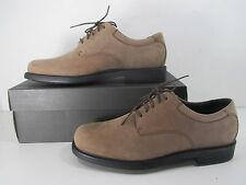 Rockport Big Bucks Margin Dress Flat Shoes Lace Up Men's Espresso Nubuck Size 14