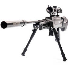 HIGH Performance BLACK Ops SNIPER Rifle PELLET GUN with SCOPE .177 Caliber Ammo