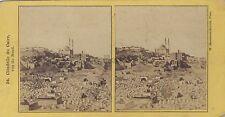 W. Hammerschmidt Caire Egypte Stéréo Stereoview Vintage albumine c. 1860