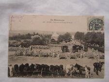 Ancienne carte postale de Guer en manœuvre parc sur le champ de foire