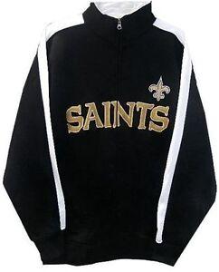 New Orleans Saints NFL End Zone Full Zip Mens Track Jacket Adult Size Large
