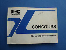 KAWASAKI CONCOURS  OWNER'S MANUAL ZG1000-A3 OWNERS MANUAL