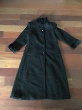 Vtg Womens Donnybrook Black Wool Blend Full Length Jacket Sz 10 Made In Ukraine