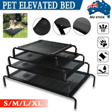 Heavy Duty Pet Bed Elevated Trampoline Hammock Cat Puppy Dog Raised Deluxe Black