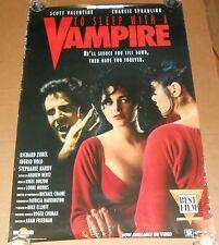 To Sleep With a Vampire Movie Poster Original 1993 Promo 40x27 Richard Zobel