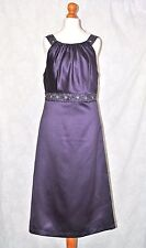 DESSY COLLECTION Size 8 Gorgeous Satin Look Cocktail Party Dress Sequin Crystal