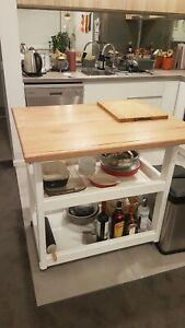 Stunning Timber Kitchen Island Trolleys / Benches Custom Made To Order