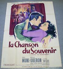 Affiche de cinéma : LA CHANSON DU SOUVENIR de CHARLES VIDOR