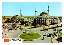 Konya Turkey Postcard Sultan Selim Mosque Mevlana Peat Minarets Cars